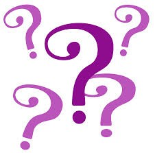 Question mark purple