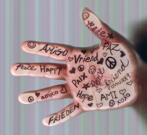 friend hand